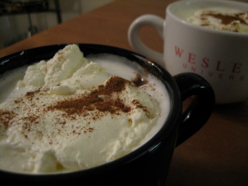Whipped cream makes your everyday coffee or cocoa after dinner special.
