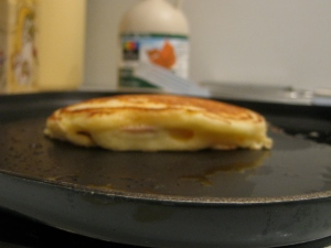 Apple & Creme Fraiche Pancakes Frying