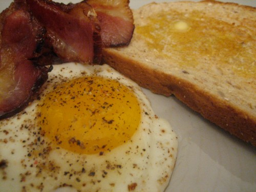 Bacon, Eggs & Toast