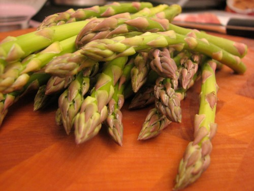 Spring time asparagus - look for skinny stalks for crispness and even cooking.