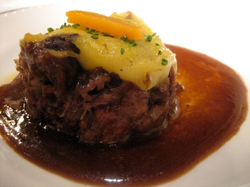 This braised ox tail was incredibly tender, rich, and flavorful.