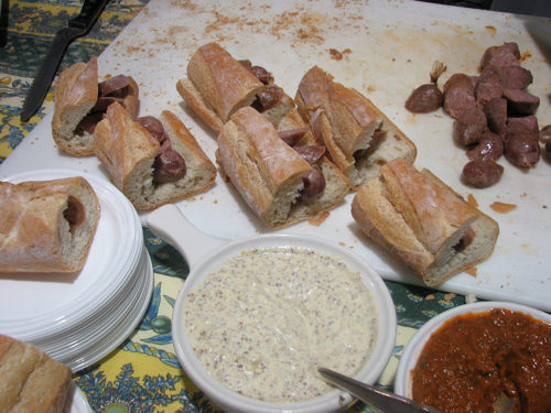 Homemade sausages and pates from Sel de la Terre, my new favorite restaurant in Boston.
